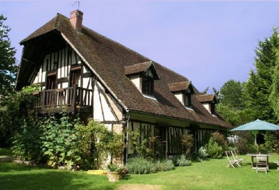 Traditional Normandy Half-timbered House