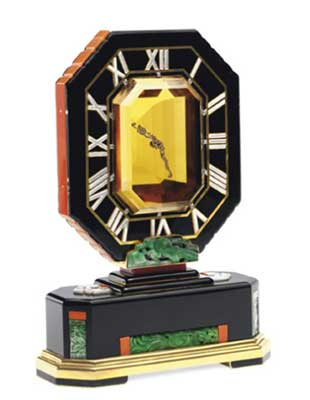 Mystery clock by Cartier