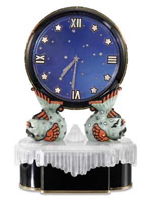 Mystery clock lle Ciel by Cartier