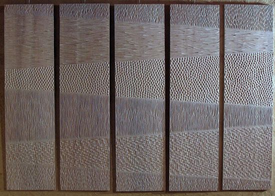sculpted wood pannel by Beno�t Averly