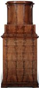 A Biedermeier Mahogany Cabinet on Chest