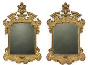 Pair of North German Baroque Mirrors
