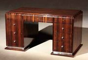 Ebony art-deco desk