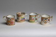Four Worcester Japan pattern coffee cans