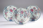 Chinese family rose plates