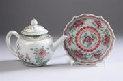 CHINESE FAMILLE ROSE PORCELAIN TEAPOT
