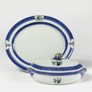 CHINESE EXPORT VEGETABLE TUREEN AND COVER AND