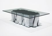 Faceted coffee table by Paul Evans