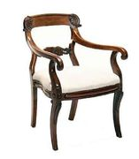 A George IV rosewood open armchair