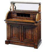 An early Victorian Cylinder bureau, mid 19th c.