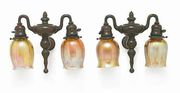 Pair of Tiffany Studios Favrile Lamps