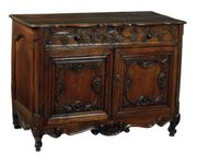 French Provencial Walnut Cabinet.
