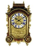 A typical Boulle table clock, late 17th C.