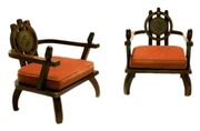 A pair of chairs by Ettore Zaccari, 1910