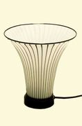Italian Table Lamp in Glass, 1983