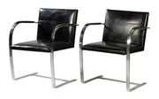 A pair of chair designed by Ludwig Mies  Van Der Rohe