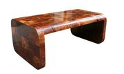 Burl Patchwork Desk by Paul Evans