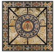 Italian Pietre Dure and Marble Inlaid Table Top