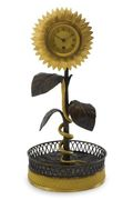 AN EMPIRE ORMOLU AND PATINATED-BRONZE WATCH STAND