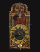 A PAINTED IRON CHAMBER CLOCK, SWISS