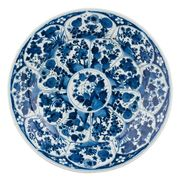 A BLUE AND WHITE PORCELAIN CHARGER AND A SMALL PLATE, CHINA, QING DYNASTY, KANGX