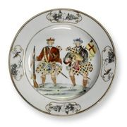 CHINESE EXPORT 'SCOTSMAN' PLATE