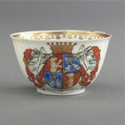 A CHINESE EXPORT ARMORIAL TEABOWL