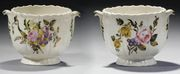 A PAIR OF LATE 18TH CENTURY FRENCH SOFT-PASTE PORCELAIN GLASS-COOLERS, PERHAPS B