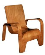 Plywood Lounge Chairs by Hans Pieck