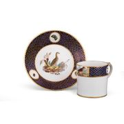 A TOURNAI CAN AND SAUCER FROM THE DUC D'ORL�ANS SERVICE, CIRCA 1787