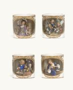 FOUR MEISSEN (MARCOLINI) COFFEE-CUPS AND SAUCERS