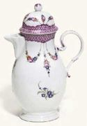 A GOTHA BALUSTER COFFEE-POT AND COVER