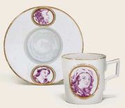 VOLKSTEDT PORTRAIT COFFEE-CAN AND TREMBLEUSE SAUCER