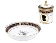 MEISSEN (MARCOLINI) PORTRAIT CUP, COVER AND STAND