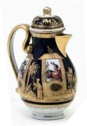 KL�STERLE BALUSTER COFFEE-POT AND COVER