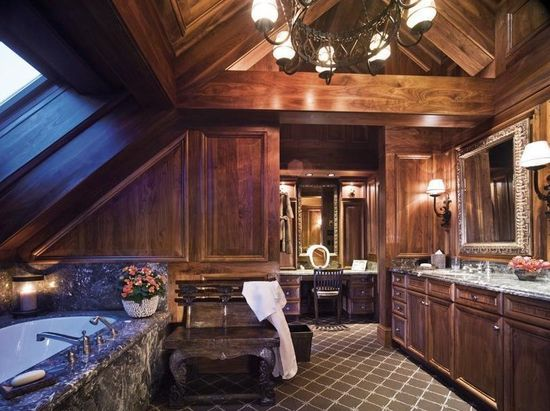 A bathroom in a luxury chalet in Vail
