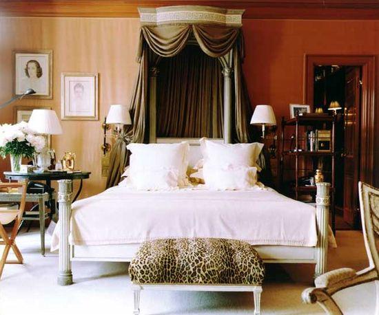 A classical bedroom designed by Bunny Williams