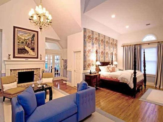 A classic master suite