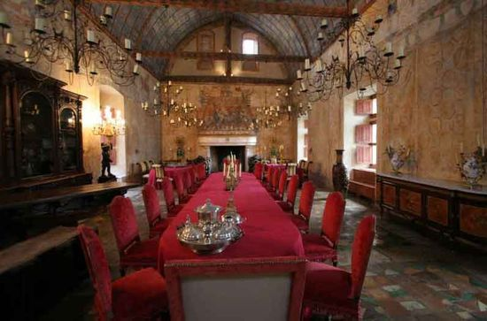 Dinner in a Medieval Castle in France