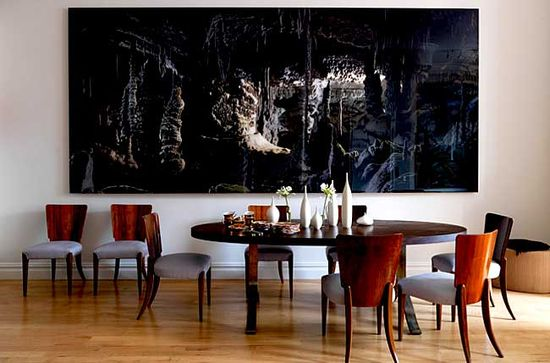 A Contemporary Dining Room in Manhattan