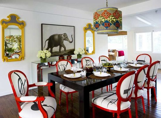 A Dining Room at Studio City Residence, L.A