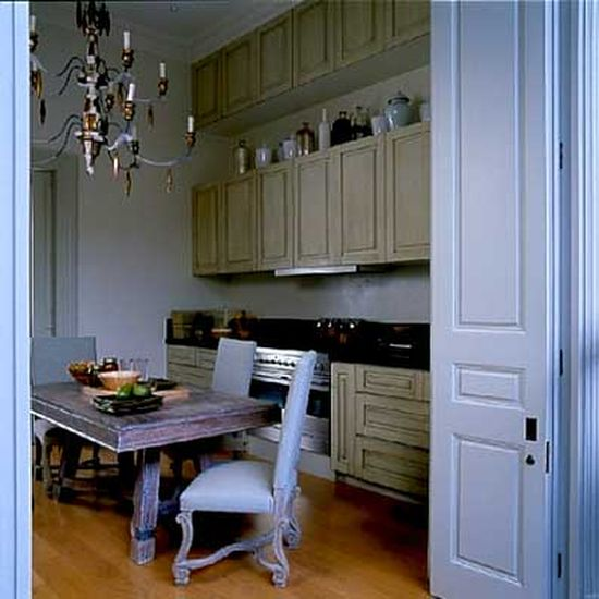A Kitchen in Light Blue in London