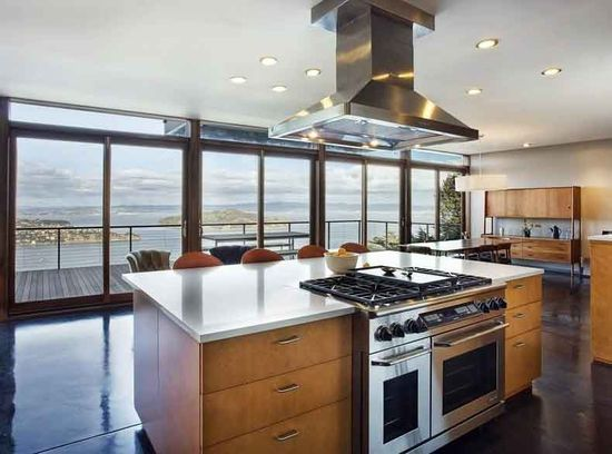 A kitchen in Sausalito