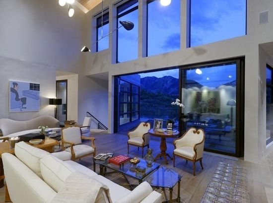 A contemporary style living room in Aspen