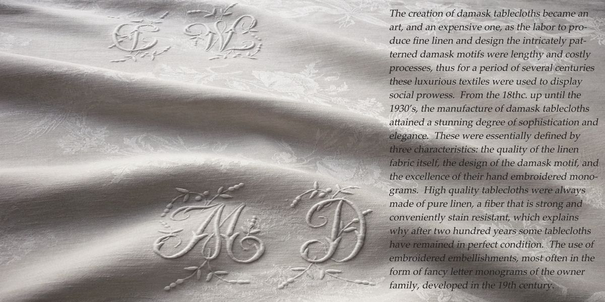 Exceptional damask tablecloths