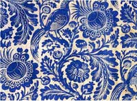 Blue printed fabric, bromley hall 1760